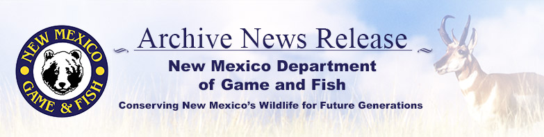 Archive news department of game and fish assistant for New mexico department of game and fish