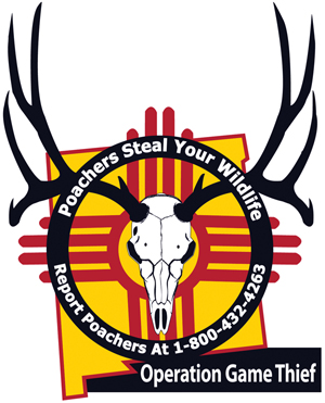 Report poachers - contact New Mexico Game and Fish Operation Game Thief 1-800-432-4263