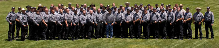 Group photo of New Mexico Game and Fish Conservation Law Enforcement Officers (Fish and Game Wardens)