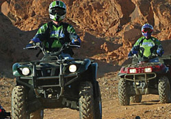Youth riding Off-Highway Vehicles during an instruction safety class with New Mexico Game & Fish OHV