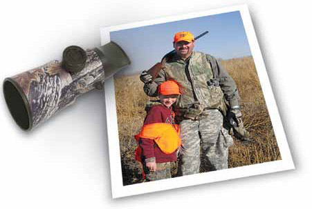 Father and son hunting in New Mexico.