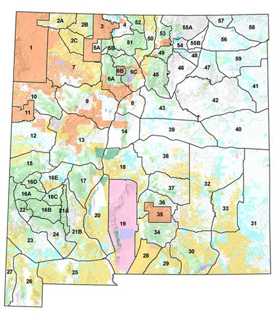Nmdgf Unit Map Game Management Unit (GMU)   New Mexico Department of Game & Fish