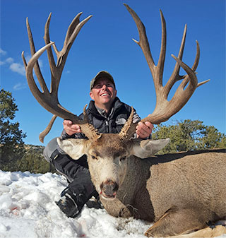 This monster buck was harvested with the 2015 auction deer permit. (Photo: Courtesy of Dave Montoya)