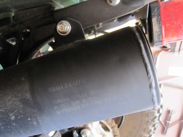 US Forest Service approved muffler stamp for OHV registration, OHV use on New Mexico public lands