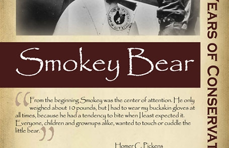 The history of Smokey the Bear, 1950s -New Mexico Game & Fish Century of Conservation