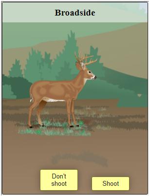 Shoot or Don't Shoot Instructional Hunter Education Interactive Game - Kalkomey / NMDGF