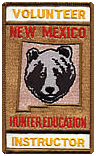 Volunteer patch for New Mexico Game & Fish Hunter Education Instructor
