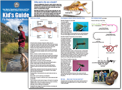 Kid's Guide: Fly Fishing in New Mexico (An education publication by New Mexico Department of Game and Fish)