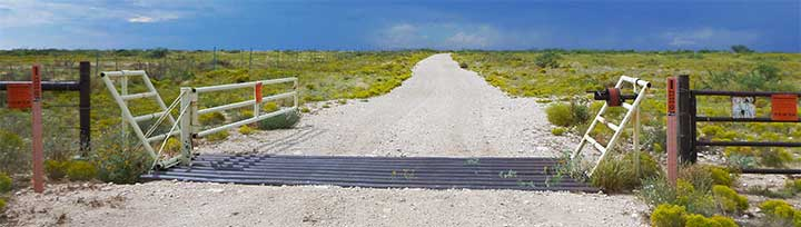 A previously-locked gate no allows public access to more hunting and fishing opportunities via Open Gate private lands, New Mexico Department of Game and Fish.