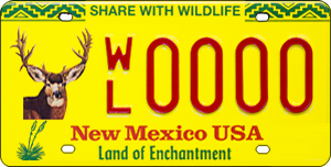 Support wildlife by ordering the New Mexico Wildlife License Plate - Elk