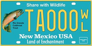 Support wildlife by ordering the New Mexico Wildlife License Plate
