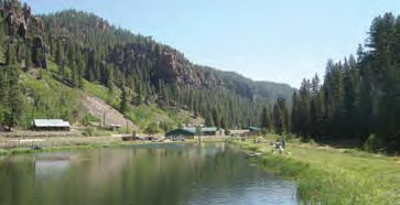 Seven Springs Fish Hatchery near Fenton Lake in the Jemez Mountains - New Mexico Department of Game & Fish