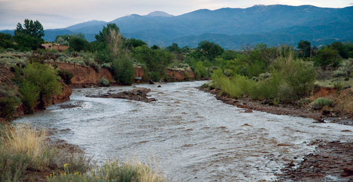 Conservation Education Lessons - Water on the Move - New Mexico Department of Game and Fish (photo Rio Santa Fe flash food by Marti Niman)