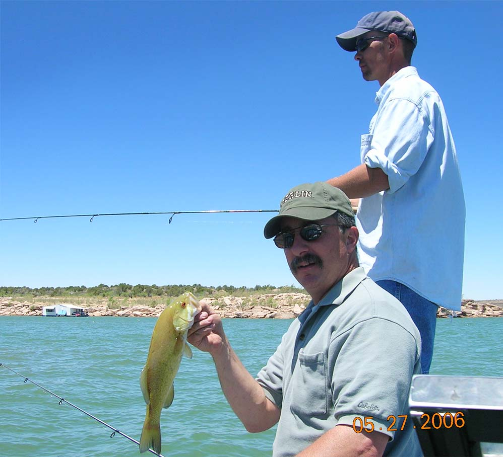 Fisheries management new mexico department of game fish for Conchas lake fishing report
