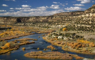 Overlook view of the San Juan River tailwater fishery - (New Mexico Game and Fish).