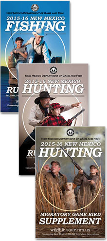 Click here for the newest 2015-2016 Hunting and Fishing proclamations from New Mexico Game and Fish