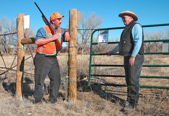 New Mexico hunter access to private land through the Department of Game and Fish program Open Gate