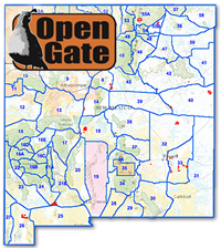 Interactive hunting map helps hunters, anglers, and trappers find suitable Open Gate private land property in New Mexico. (Department of Game and Fish)