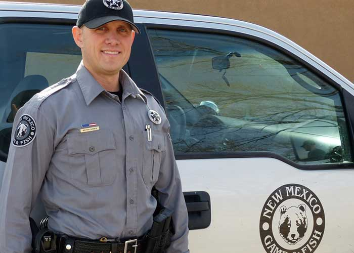 NMDGF Conservation Officer of the Month Keith Haws, February 2016