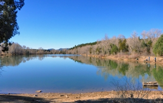 Fishing at Open Gate Property 127, Monastery Lake in Pecos, NM, New Mexico