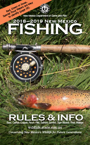 2018-2019 Fishing Rules and Info regulations proclamation booklet guide (PDF & print) - New Mexico Department Game and Fish