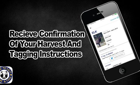 Receive confirmation of your harvest and tagging instructions