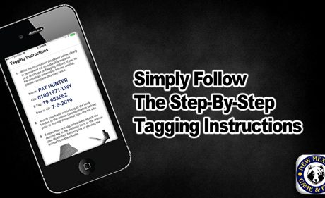 Simple follow the step by step tagging instructions