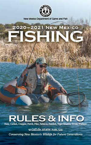 2020-2021 Fishing Rules and Info regulations proclamation booklet guide (PDF & print) - New Mexico Department Game and Fish