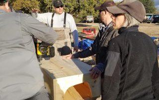 Building catfish boxes.