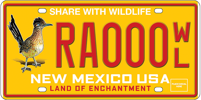 Road Runner - Support wildlife by ordering the New Mexico Wildlife License Plate